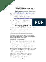 Prediction 2007