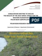 GN Western Hudson Bay polar bear TAH Presentation 2017