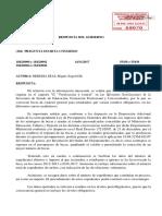 Respuesta del Gobierno a Miguel Ángel Heredia