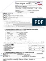 Test Sumativ Clasa a v-A B