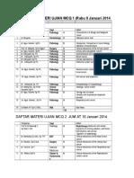 Daftar Materi Ujian Mcq 1 2 Th 2013 14