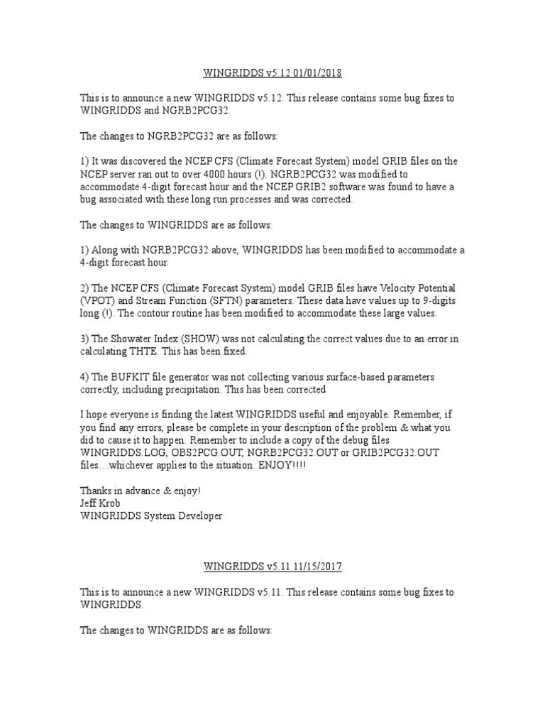 WINGRIDDS v5 12 Release Notes | Software Bug | Debugging