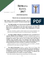 Material de Homilías. Fichas Para La Semana Santa 2017