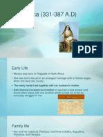 saint monica religion presentation  juliana marbella