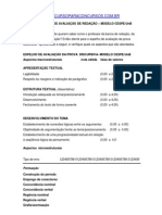 Criterios de Avaliacao de Redacao Modelo Cespe Unb