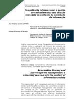 Competência informacional e gestão do conhecimento uma relação necessária no contexto da sociedade da informação