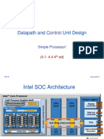 Datapath Control Unit Design