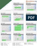 Kalender 2018 Bayern Hoch