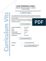 Curriculum Alan Fernández Flores