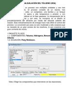 HIDRODESALQUILACIÓN DEL TOLUENO (HDA).pptx
