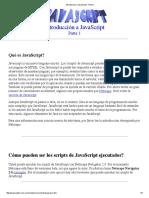 Introduccion a JavaScript - Parte1