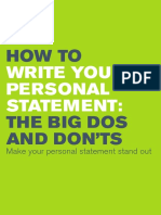 Personal Statement Writing Guide