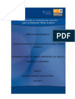 Propuesta didáctica del Módulo Desarrollo Ciudadano