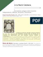Argumentari de La Nació Catalana_ Interesantes Textos Extranjeros Antiguos Sobre Cataluña_ Independencia, Libertad, Economia, Costumbres.
