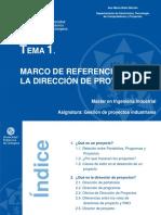 Tema 1. Marco de Referencia Para La Dirección de Proyectos