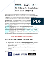 Detailed ISRO Syllabus for Scientist and Engineers Exam