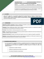 Instructivo Para La Evaluación de Proveedores