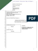 Hunter Douglas v. Lantex - Complaint
