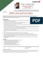 JOBDESK SWISSPORT Za Manager Admin and Asset Cost Control