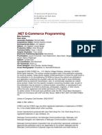 .Net E-commerce Programming