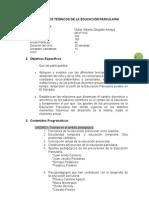 Programa de Asignatura - Fundamentos Teoricos Educacion Parvularia[1]