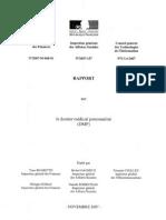 Rapport Dossier Médical Personnalisé, Novembre 2007