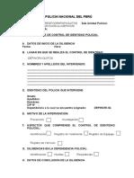 Acta de Control de Identidad Policial