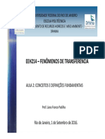 FENÔMENOS DE TRANSFERÊNCIA - Aula 2