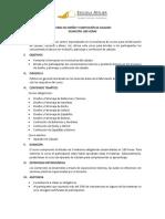 Plan de Estudios de Calzado - Escuela Atelier