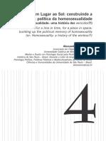 Por um Lugar ao Sol- construindo a memória política da homossexualidade (ou- Homossexualidade- uma história dos vencidos! Alessandro Soares S.pdf