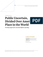 Public Uncertain, Divided over America's Place in the World