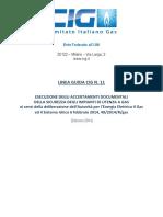 CIG Linee Guida n 11
