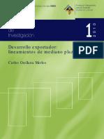 Desarrollo Exportador Lineamientos de Mediano Plazo Lic Carlos Orellana Merlos