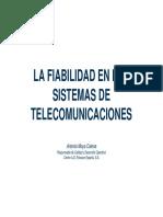 La fiabilidad de los sistemas de telecomunicación. 2008