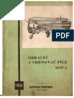 Obrace a Shrnova Pice OSP-1 - Navod k Obsluze - Katalog ND