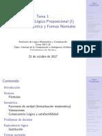 Sintaxis de la Lógica Proposicional