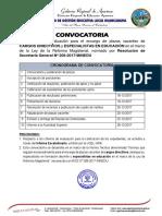 Convocatoria Para Encargo de Directivo y Especialistas