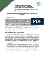 Investigacion Derechos Constitucionales y Planificacion Territorial en Ecuador