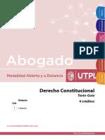 Derecho Constitucional guía Primer semestre Modalidad a Distancia