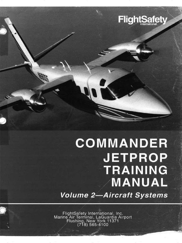 Flightsafety Commander Jetprop Training Manual Volume 2 Aircraft
