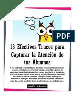 13EfectivosTrucosParaLograrAtenciónDeTusAlumnos Ver1.0 Imprimibles Educar21 Prueba