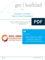 Kids in Need Foundation - Executive Director - Position Profile