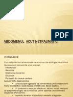 abdomenul acut netraumatic