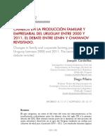 Cambios en la producción familiar y empresarial del URUGUAY entre 2000 y 2011