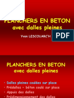 Planchers en Béton
