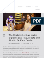 Sex, AI, Robots and You With Kate Devlin | The Register Lecture Series