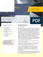 Newsletter Format for Scrbd