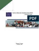 Autoevaluacion Institucional UNI 2010