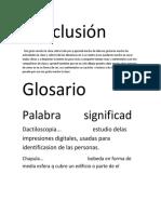 Conclusión y Glosario1
