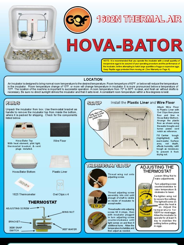 hova bator 1602n instructions